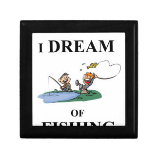 I Dream Of Fishing Small Square Gift Box