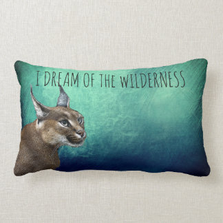 I Dream Of The Wilderness Bobcat Lumbar Cushion