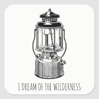 I Dream Of The Wilderness Camping Lantern Stickers