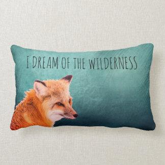 I Dream Of The Wilderness Fox Lumbar Cushion