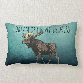 I Dream Of The Wilderness Walking Moose Lumbar Cushion