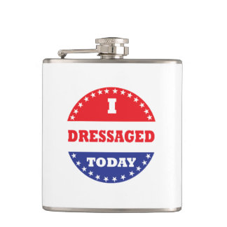 I Dressaged Today Hip Flask