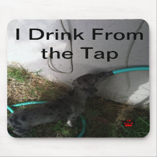 I Drink From the Tap Mouse Pad