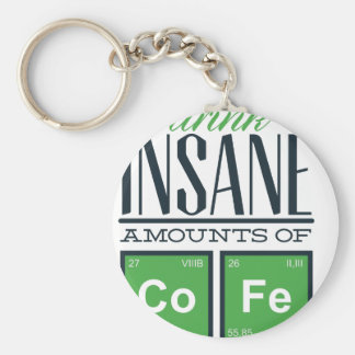 I drink insane amounts of code, geek design key ring