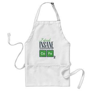 I drink insane amounts of code, geek design standard apron