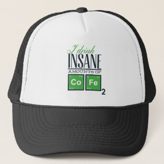 I drink insane amounts of code, geek design trucker hat