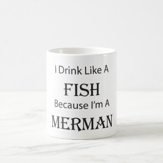 I Drink Like A Fish Merman Coffee Mug