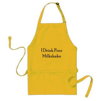 I Drink Pour Milk Shake Apron