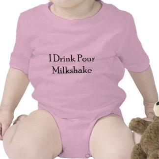 I Drink Pour Milk Shake Baby Bodysuits