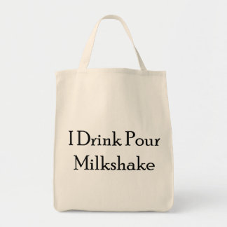 I Drink Pour Milk Shake Grocery Tote Bag