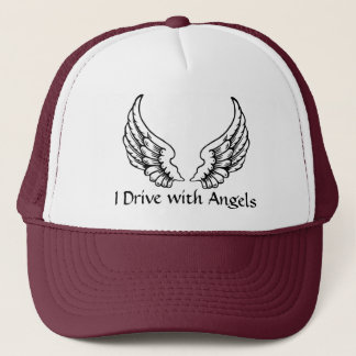 I Drive with Angels Trucker Style Cap