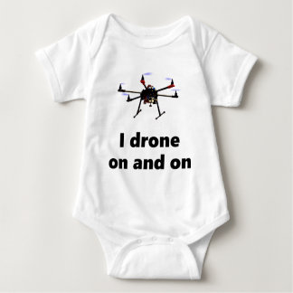 I drone on and on hexacopter baby bodysuit
