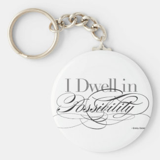 I Dwell in Possibility - Emily Dickinson Quote Key Ring