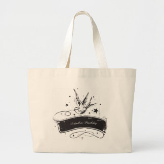 """I Dwell in Possibility"" Large Tote Bag"