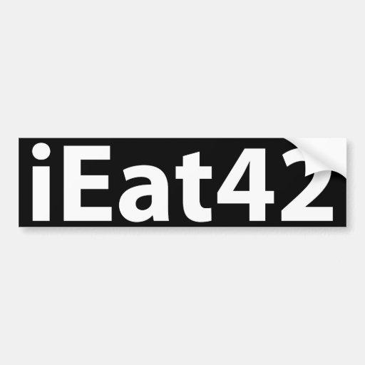 I Eat 4 2 Bumper Stickers