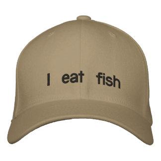 I eat fish baseball cap