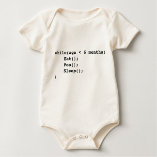 I eat I poo I sleep programing baby Baby Bodysuit