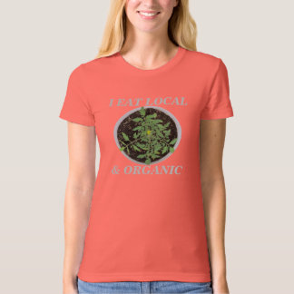 I Eat Local & Organic Peace Sign T-Shirt - USA