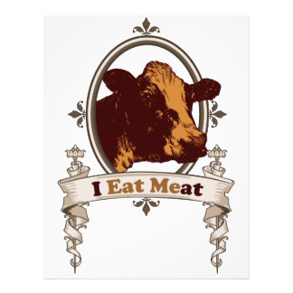 I Eat Meat Cow Flyers
