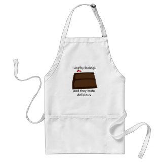 I eat my feelings standard apron