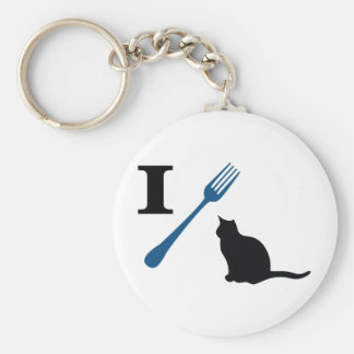 I Eat Pussy Cats Basic Round Button Key Ring