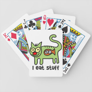 I eat stuff kitty! bicycle playing cards