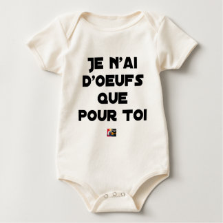 I EGG AI ONLY FOR YOU - Word games - Fran Baby Bodysuit