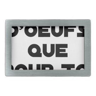I EGG AI ONLY FOR YOU - Word games - Fran Belt Buckle
