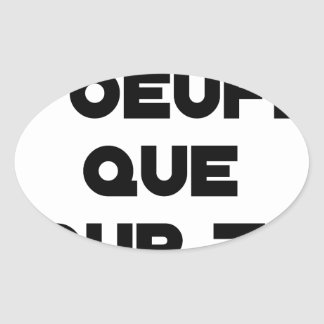 I EGG AI ONLY FOR YOU - Word games - Fran Oval Sticker