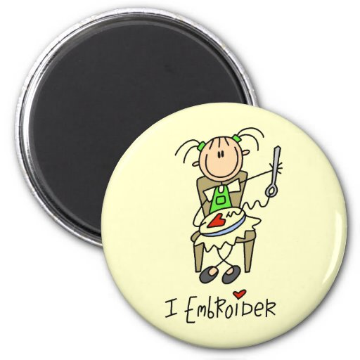 I Embroider tshirts and Gifts Refrigerator Magnet