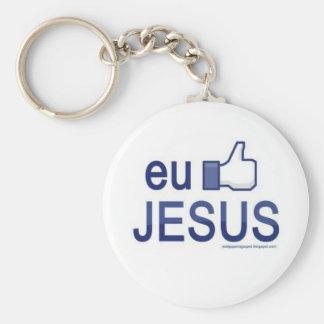 I enjoy Jesus Basic Round Button Key Ring