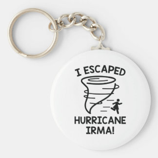 I Escaped Hurricane Irma Key Ring