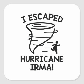 I Escaped Hurricane Irma Square Sticker