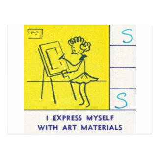 I Express Myself with Art Materials Postcard