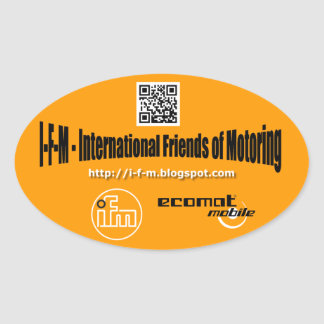 i-f-m of oval stickers
