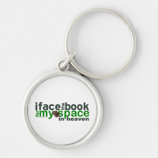 I Face the Book for Myspace Keychain