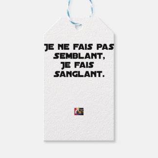 I FAIS NOT SEEMING, I FAIS STRAPPING GIFT TAGS