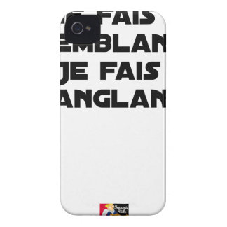 I FAIS NOT SEEMING, I FAIS STRAPPING iPhone 4 COVER
