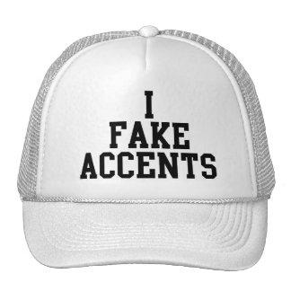 I Fake Accents Mesh Hats