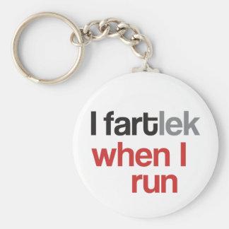 I FARTlek when I Run © - Funny FARTlek Basic Round Button Key Ring