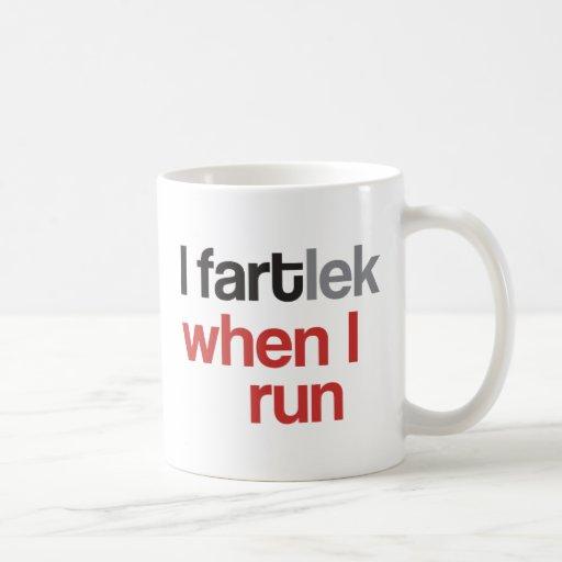 I FARTlek when I Run © - Funny FARTlek Runner Gift Coffee Mugs