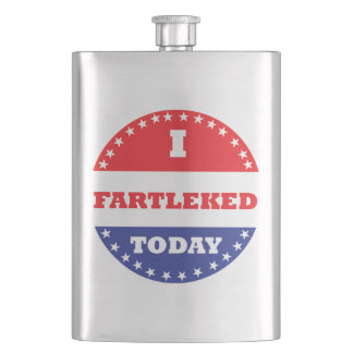 I Fartleked Today Hip Flask