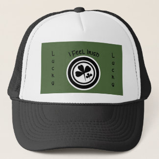 I Feel Irish 2 Black & White Ver 2 Trucker Hat