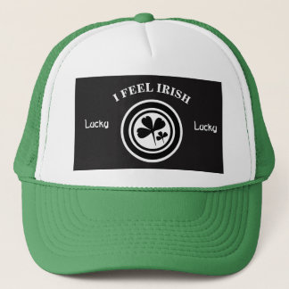 I Feel Irish Black & White Ver 2 Trucker Hat