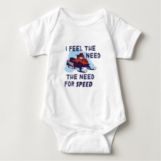 I Feel The Need The Need For Speed Baby Bodysuit