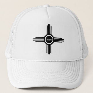 i fight-black trucker hat