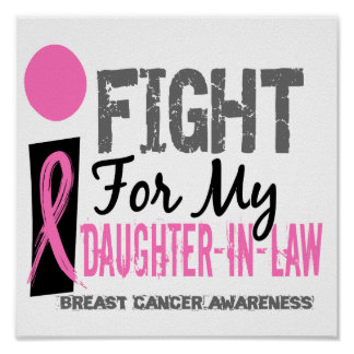 I Fight For My Daughter-In-Law Breast Cancer Print