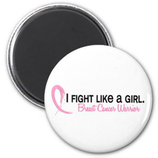 I Fight Like A Girl 6.1 Breast Cancer 6 Cm Round Magnet