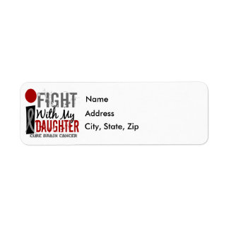 I Fight With My Daughter Brain Cancer Return Address Label