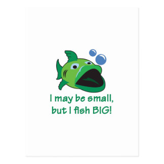 I FISH BIG POSTCARD